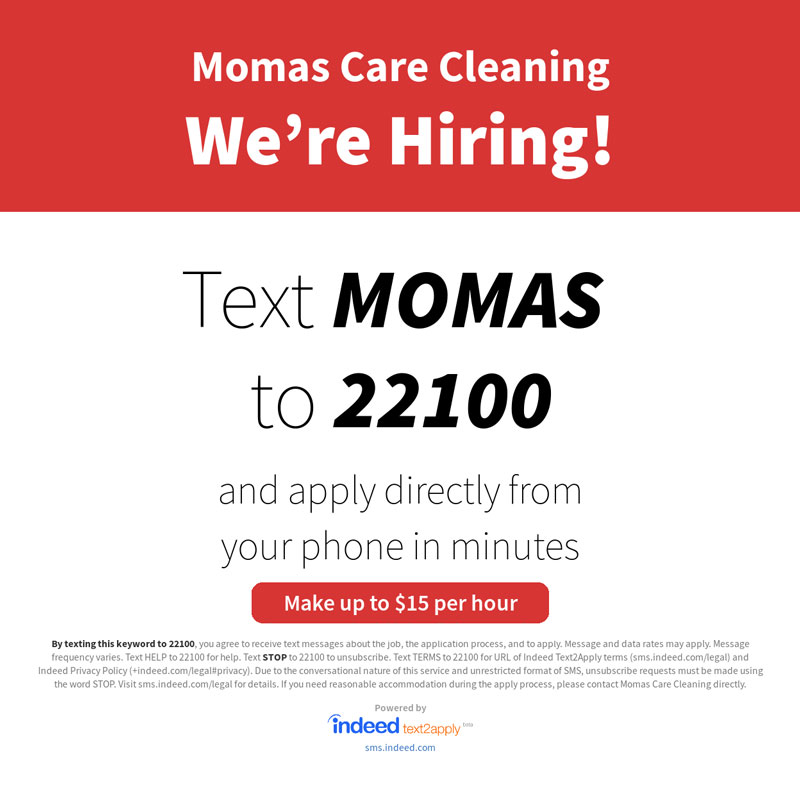 Text MOMAS to 22100 to apply